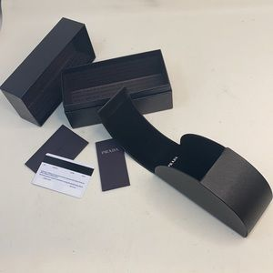 Prada Black Saffiano Sunglasses Case w/Box - New